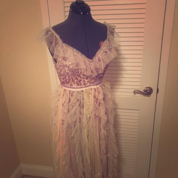 8941a08c748e Needle & Thread Dresses   Rainbow Embellished Ruffled Tulle Midi ...